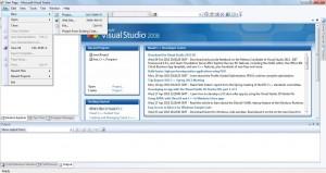 Open Microsoft Visual Studio 2008